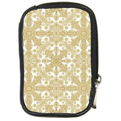 Golden Floral Boho Chic Compact Camera Cases by dflcprints