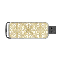 Golden Floral Boho Chic Portable Usb Flash (two Sides) by dflcprints