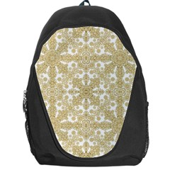 Golden Floral Boho Chic Backpack Bag by dflcprints