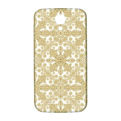 Golden Floral Boho Chic Samsung Galaxy S4 I9500/i9505  Hardshell Back Case by dflcprints