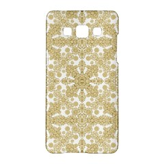 Golden Floral Boho Chic Samsung Galaxy A5 Hardshell Case  by dflcprints