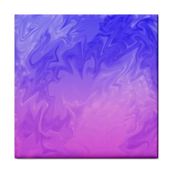 Ombre Purple Pink Tile Coasters by BrightVibesDesign