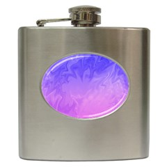 Ombre Purple Pink Hip Flask (6 Oz) by BrightVibesDesign