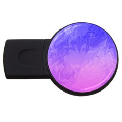 Ombre Purple Pink USB Flash Drive Round (2 GB)  by BrightVibesDesign