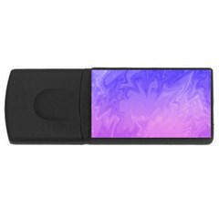 Ombre Purple Pink USB Flash Drive Rectangular (4 GB)  by BrightVibesDesign