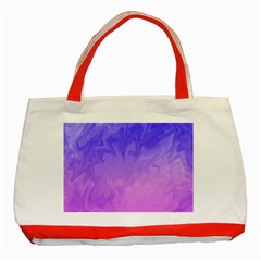 Ombre Purple Pink Classic Tote Bag (red) by BrightVibesDesign