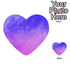 Ombre Purple Pink Multi Purpose Cards (heart)  by BrightVibesDesign