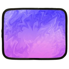 Ombre Purple Pink Netbook Case (Large) by BrightVibesDesign