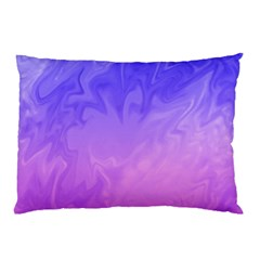 Ombre Purple Pink Pillow Case (two Sides) by BrightVibesDesign