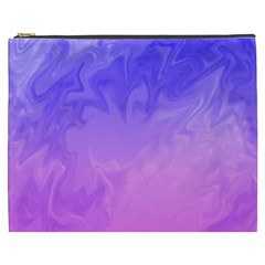 Ombre Purple Pink Cosmetic Bag (XXXL)  by BrightVibesDesign