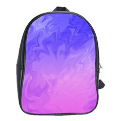 Ombre Purple Pink School Bags (XL)  by BrightVibesDesign