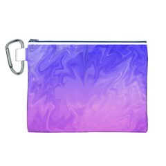 Ombre Purple Pink Canvas Cosmetic Bag (l) by BrightVibesDesign