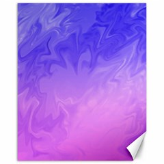 Ombre Purple Pink Canvas 16  X 20   by BrightVibesDesign