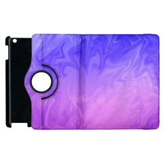 Ombre Purple Pink Apple Ipad 3/4 Flip 360 Case by BrightVibesDesign