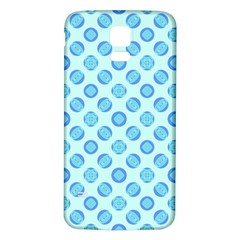 Pastel Turquoise Blue Retro Circles Samsung Galaxy S5 Back Case (white) by BrightVibesDesign