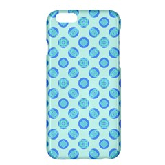 Pastel Turquoise Blue Retro Circles Apple Iphone 6 Plus/6s Plus Hardshell Case by BrightVibesDesign
