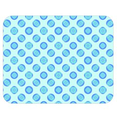 Pastel Turquoise Blue Retro Circles Double Sided Flano Blanket (medium)  by BrightVibesDesign