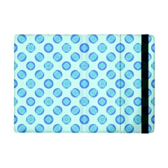 Pastel Turquoise Blue Retro Circles Apple Ipad Mini Flip Case by BrightVibesDesign