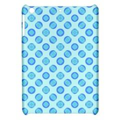 Pastel Turquoise Blue Retro Circles Apple Ipad Mini Hardshell Case by BrightVibesDesign