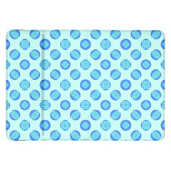 Pastel Turquoise Blue Retro Circles Samsung Galaxy Tab 8 9  P7300 Flip Case by BrightVibesDesign