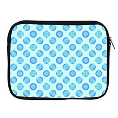 Pastel Turquoise Blue Retro Circles Apple Ipad 2/3/4 Zipper Cases by BrightVibesDesign