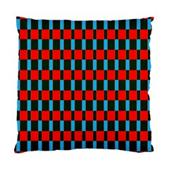 Black Red Rectangles Pattern                                                          standard Cushion Case (two Sides) by LalyLauraFLM