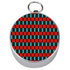 Black Red Rectangles Pattern                                                          Silver Compass by LalyLauraFLM