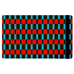 Black Red Rectangles Pattern                                                          			apple Ipad 2 Flip Case by LalyLauraFLM