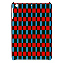 Black Red Rectangles Pattern                                                          			apple Ipad Mini Hardshell Case by LalyLauraFLM