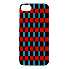 Black Red Rectangles Pattern                                                          			apple Iphone 5s Hardshell Case by LalyLauraFLM