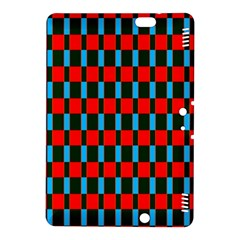 Black Red Rectangles Pattern                                                          			kindle Fire Hdx 8 9  Hardshell Case by LalyLauraFLM