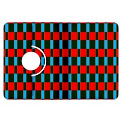 Black Red Rectangles Pattern                                                          kindle Fire Hdx Flip 360 Case by LalyLauraFLM