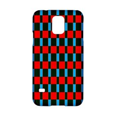 Black Red Rectangles Pattern                                                          samsung Galaxy S5 Hardshell Case by LalyLauraFLM