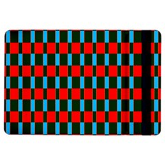 Black Red Rectangles Pattern                                                          apple Ipad Air 2 Flip Case by LalyLauraFLM