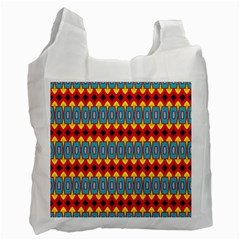 Rhombus And Other Shapes Pattern                                                            			recycle Bag (one Side) by LalyLauraFLM