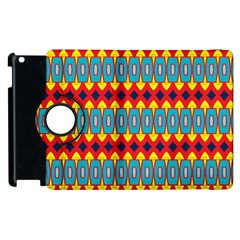 Rhombus and other shapes pattern                                                            			Apple iPad 3/4 Flip 360 Case by LalyLauraFLM