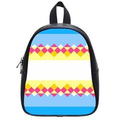 Rhombus And Stripes                                                             school Bag (small) by LalyLauraFLM