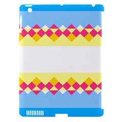 Rhombus And Stripes                                                             			apple Ipad 3/4 Hardshell Case (compatible With Smart Cover) by LalyLauraFLM
