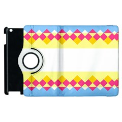 Rhombus And Stripes                                                             			apple Ipad 3/4 Flip 360 Case by LalyLauraFLM