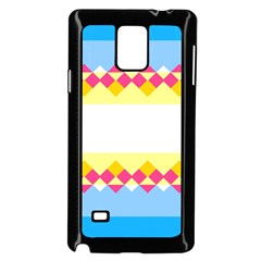Rhombus and stripes                                                             			Samsung Galaxy Note 4 Case (Black) by LalyLauraFLM