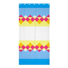 Rhombus And Stripes                                                             	shower Curtain 36  X 72  by LalyLauraFLM