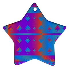 Triangles Gradient                                                             ornament (star) by LalyLauraFLM