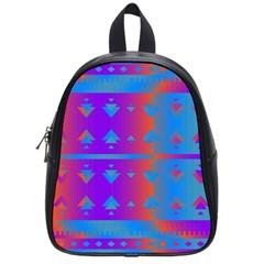 Triangles Gradient                                                             			school Bag (small) by LalyLauraFLM