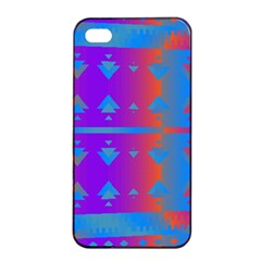 Triangles Gradient                                                             apple Iphone 4/4s Seamless Case (black) by LalyLauraFLM