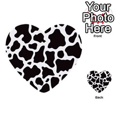 Cow Pattern Multi Purpose Cards (heart)  by sifis