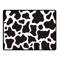 Cow Pattern Double Sided Fleece Blanket (small)  by sifis