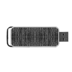 Dark Grunge Texture Portable Usb Flash (one Side) by dflcprints