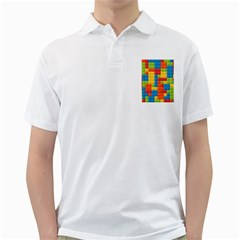 Lego Bricks Pattern Golf Shirt by Salmanaz