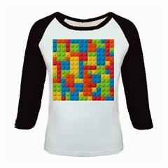 Lego Bricks Pattern Kids Baseball Jersey by Salmanaz