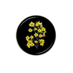 Sunflowers Over Black Hat Clip Ball Marker (10 Pack) by dflcprints